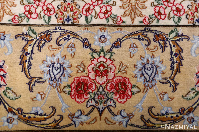 dark background vintage isfahan rug 51115 bouquet Nazmiyal