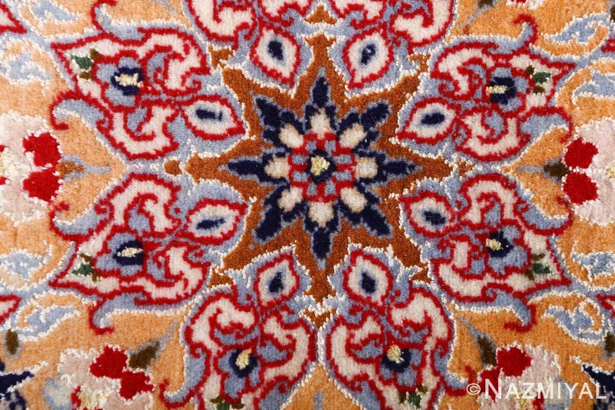 dark background vintage isfahan rug 51115 center Nazmiyal