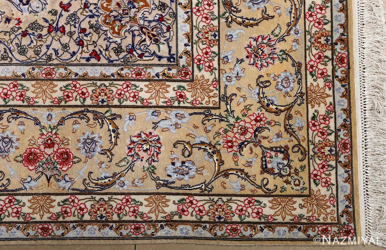 dark background vintage isfahan rug 51115 center Nazmiyal