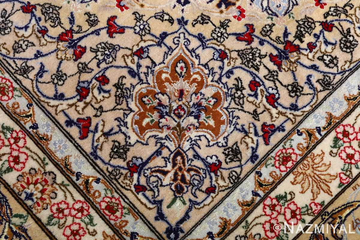 dark background vintage isfahan rug 51115 design Nazmiyal