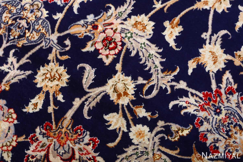 dark background vintage isfahan rug 51115 field Nazmiyal