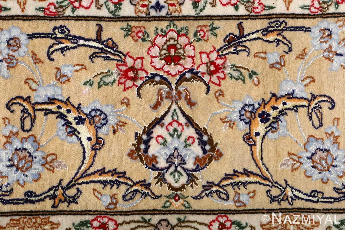 dark background vintage isfahan rug 51115 flower Nazmiyal
