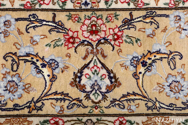 dark background vintage isfahan rug 51115 flower Nazmiyal