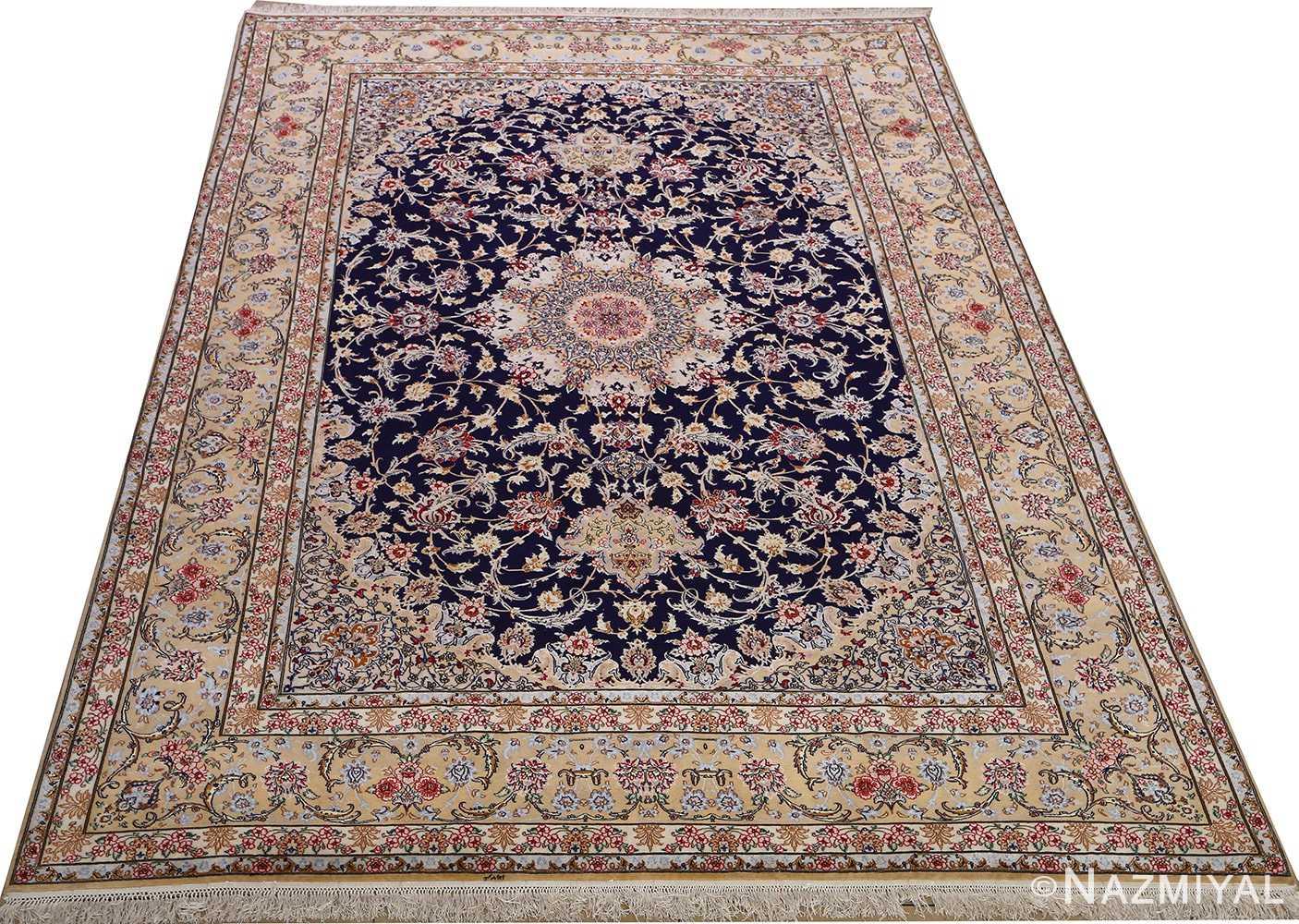 dark background vintage isfahan rug 51115 full Nazmiyal