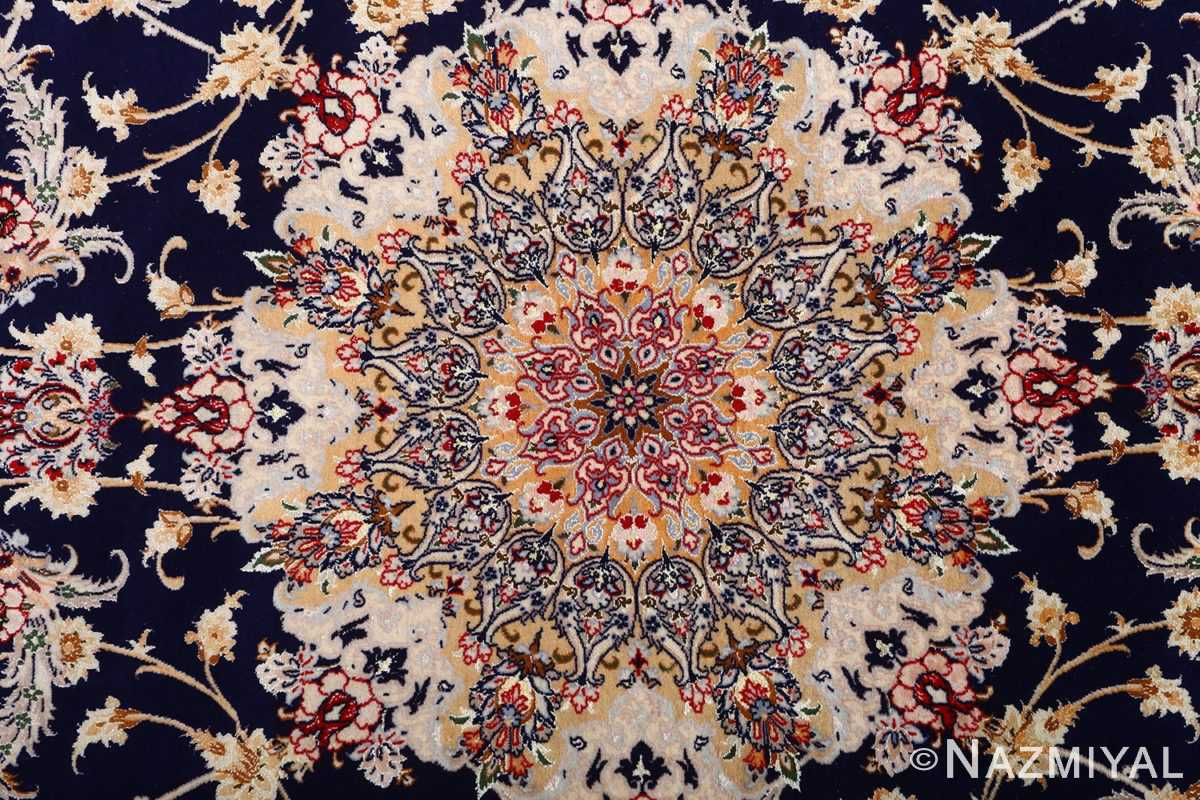 dark background vintage isfahan rug 51115 medallion Nazmiyal