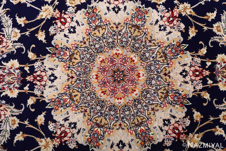 dark background vintage isfahan rug 51115 medallion Nazmiyal