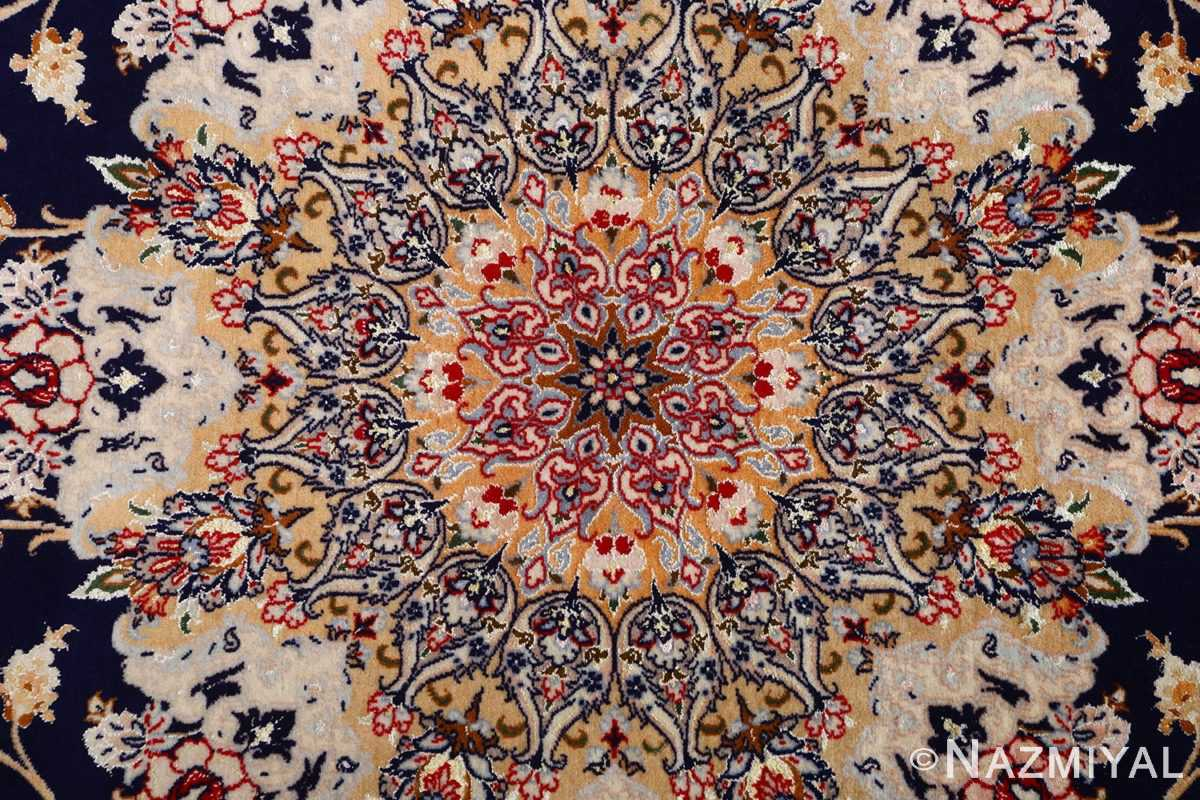 dark background vintage isfahan rug 51115 middle Nazmiyal