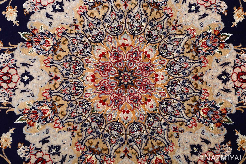 dark background vintage isfahan rug 51115 middle Nazmiyal