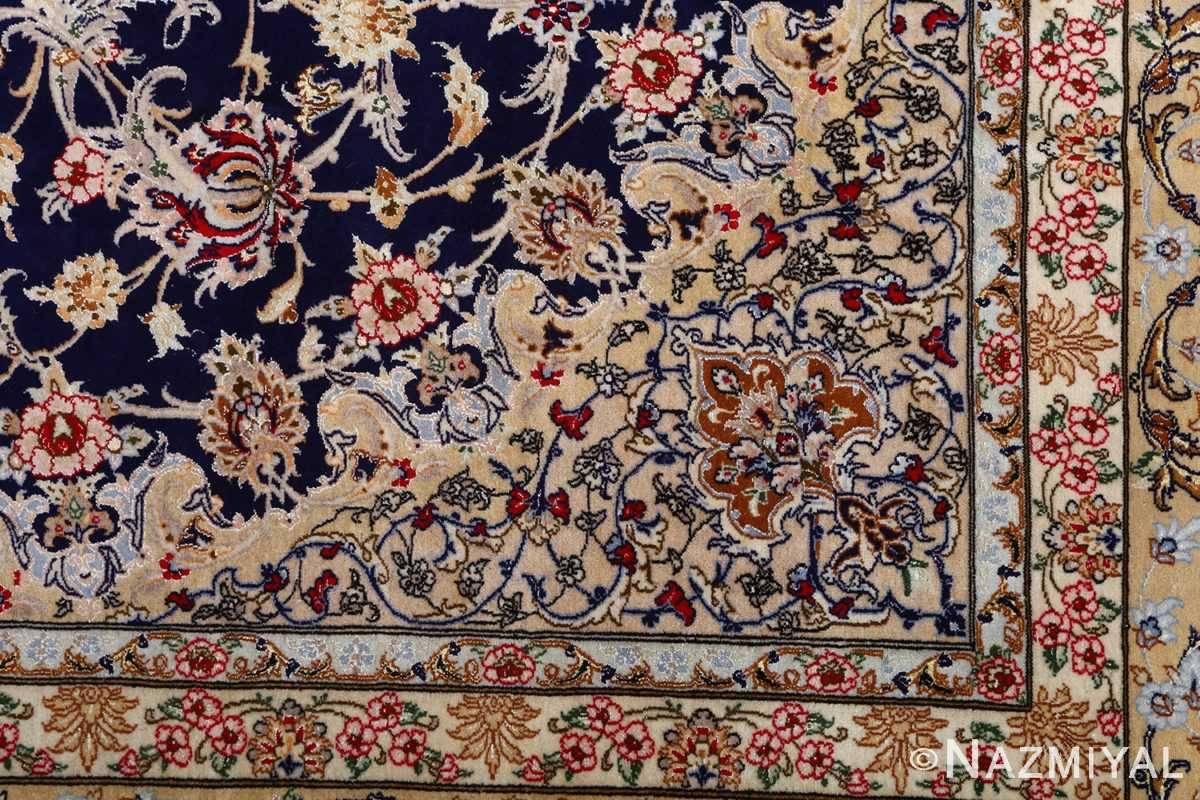 dark background vintage isfahan rug 51115 pattern Nazmiyal