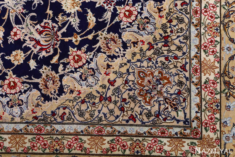 dark background vintage isfahan rug 51115 pattern Nazmiyal