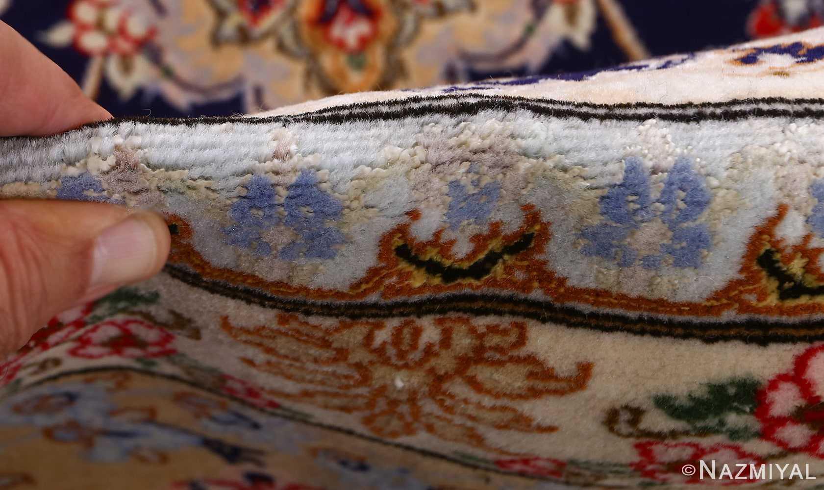 dark background vintage isfahan rug 51115 pile Nazmiyal