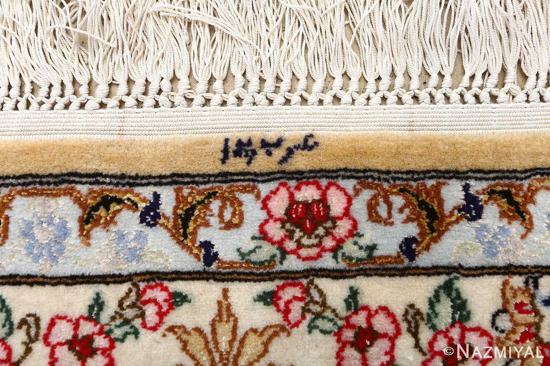 dark background vintage isfahan rug 51115 signature Nazmiyal