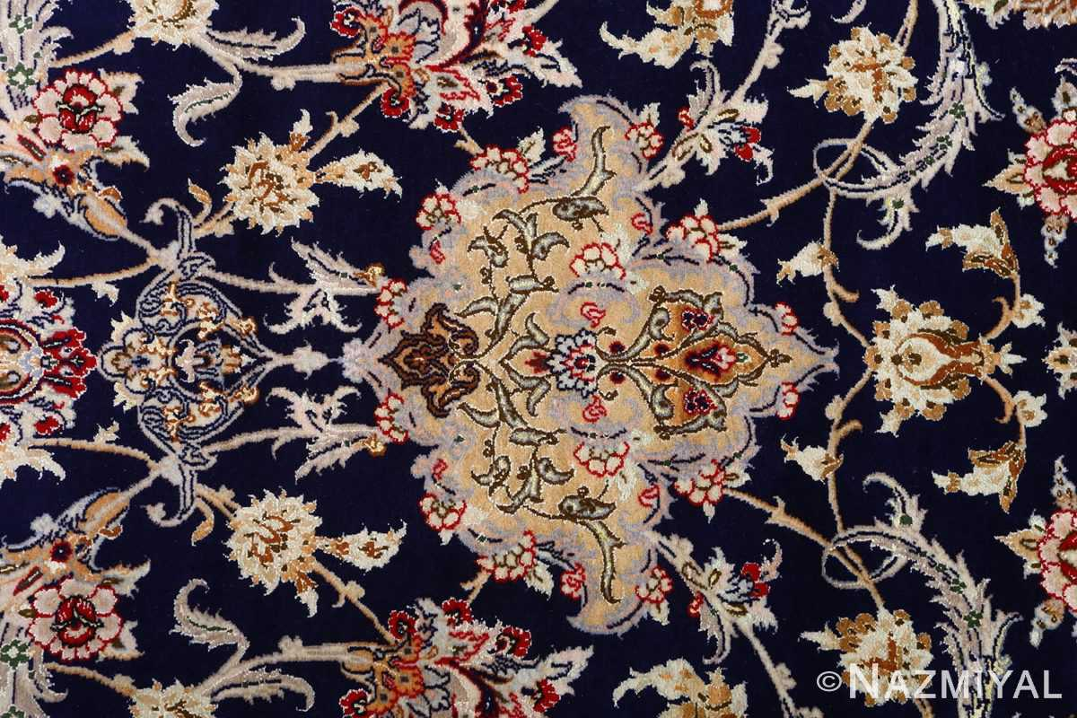 dark background vintage isfahan rug 51115 top Nazmiyal