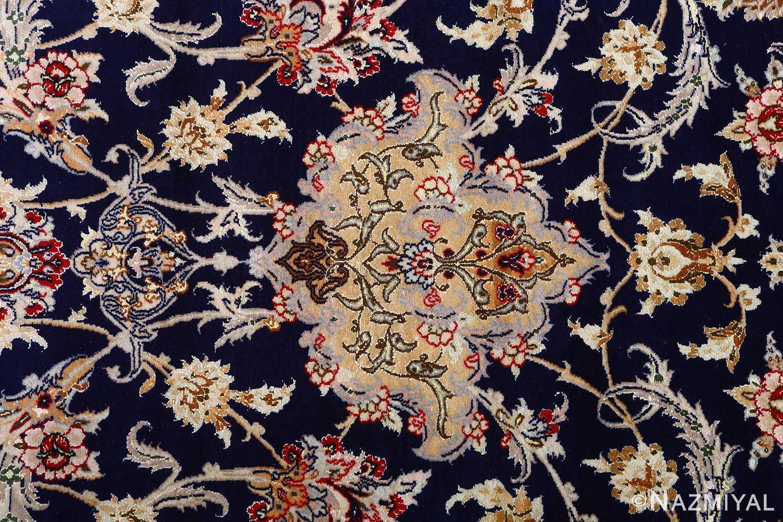 dark background vintage isfahan rug 51115 top Nazmiyal