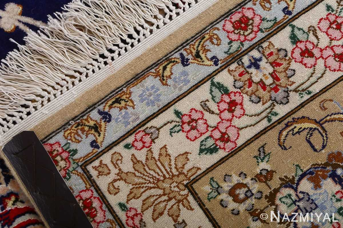dark background vintage isfahan rug 51115 weave Nazmiyal