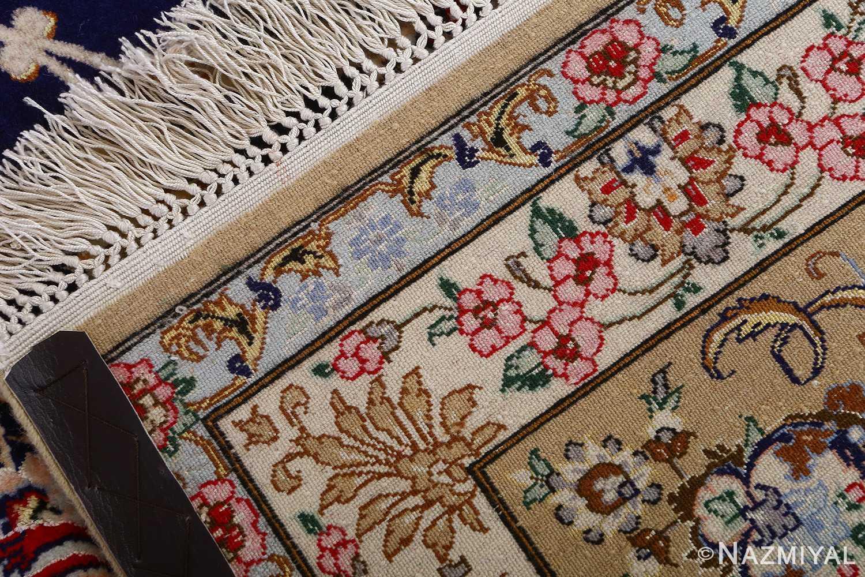 dark background vintage isfahan rug 51115 weave Nazmiyal