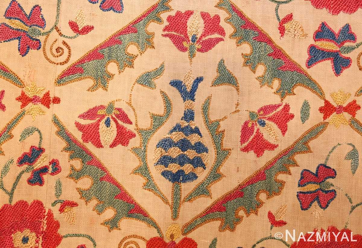 early 19th century suzani uzbek textile 49254 blue Nazmiyal