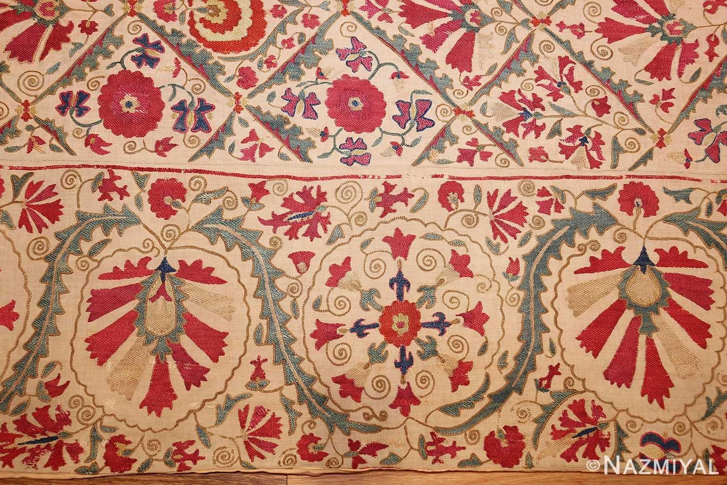 Early 19th Century Suzani Uzbek Textile 49254 Nazmiyal Rugs