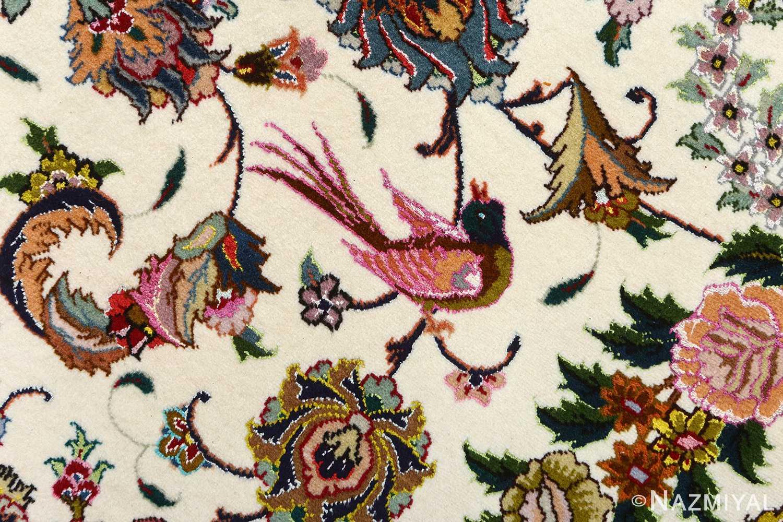 fine animal motif vintage tabriz persian rug 51073 bird Nazmiyal