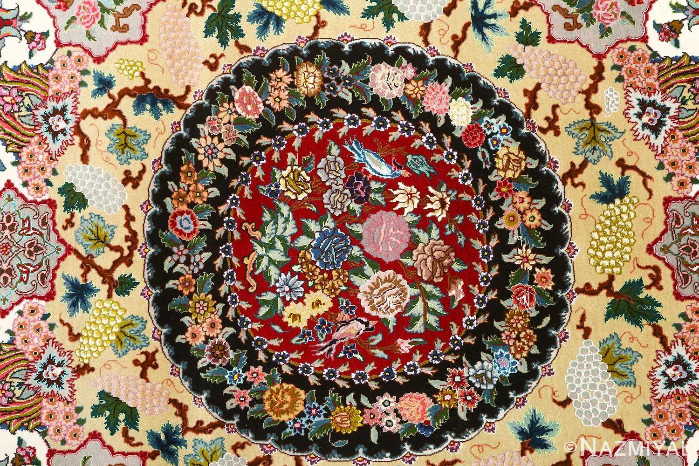 fine animal motif vintage tabriz persian rug 51073 center Nazmiyal