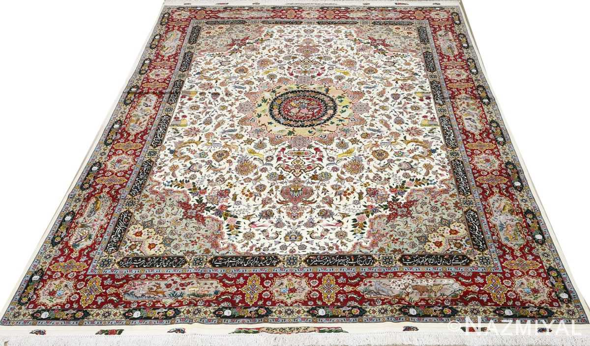 fine animal motif vintage tabriz persian rug 51073 full Nazmiyal