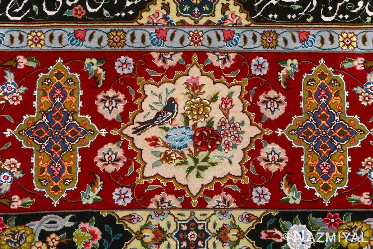 fine animal motif vintage tabriz persian rug 51073 roses Nazmiyal