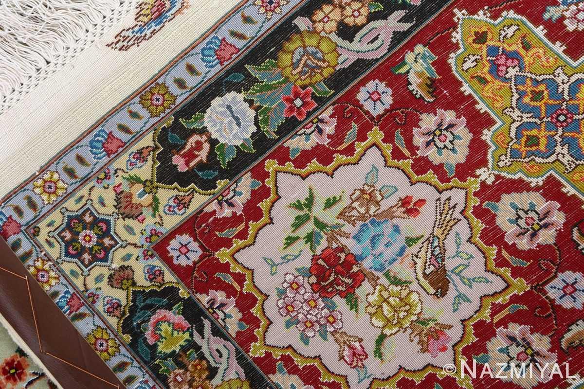 fine animal motif vintage tabriz persian rug 51073 weave Nazmiyal