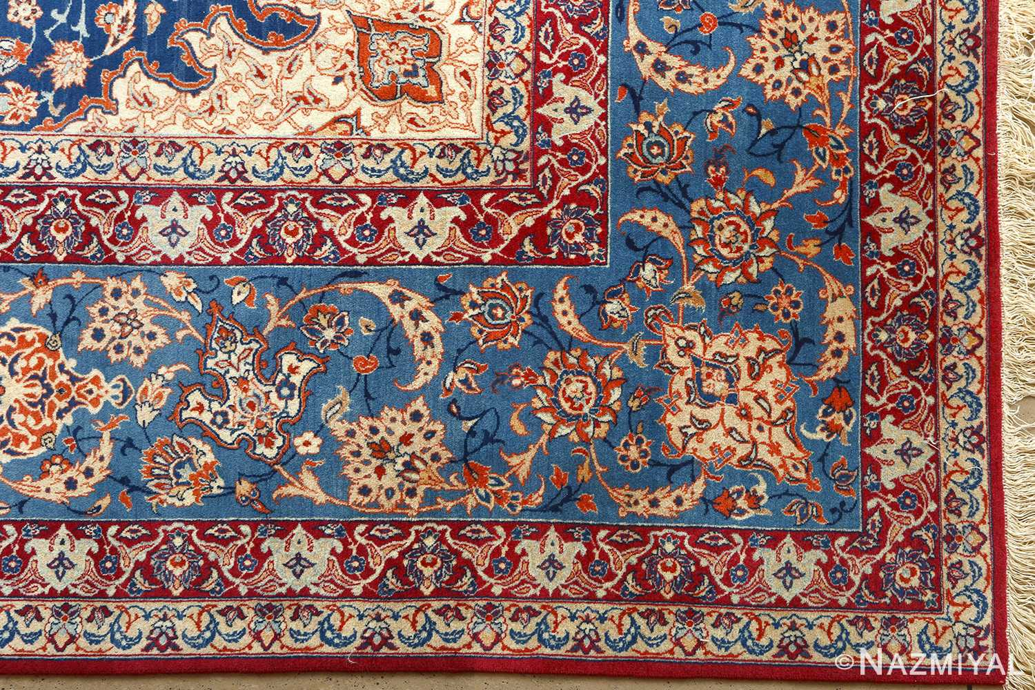 Beautiful Vintage Isfahan Persian Rug 51078 By Nazmiyal