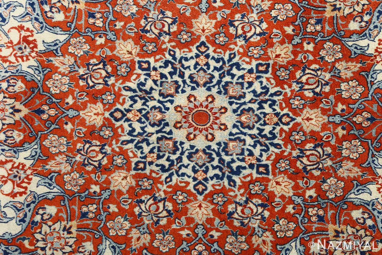 fine ivory background vintage isfahan persian rug 51078 middle Nazmiyal