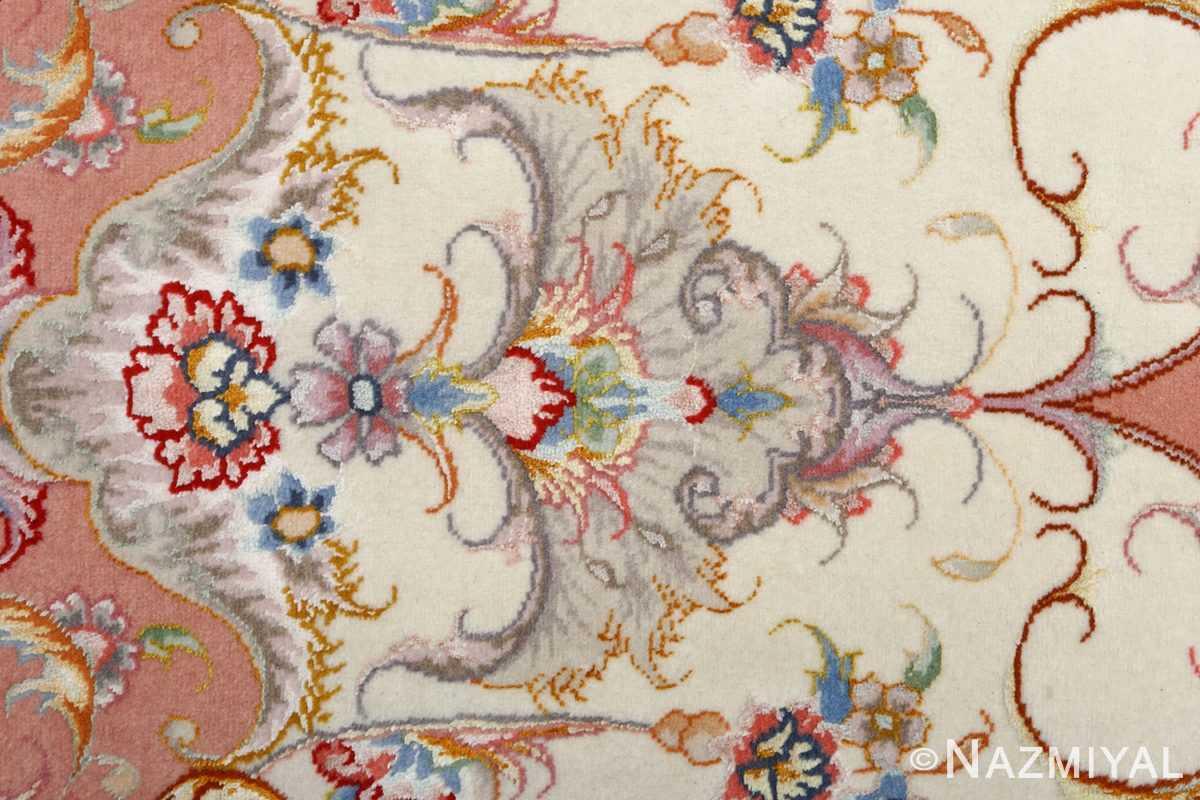 fine ivory background vintage tabriz persian rug 51072 design Nazmiyal