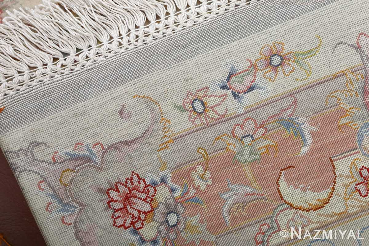 fine ivory background vintage tabriz persian rug 51072 weave Nazmiyal