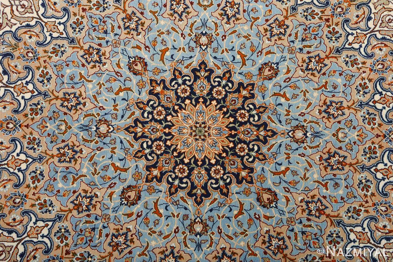 fine ivory vintage isfahan persian rug 51089 blue Nazmiyal
