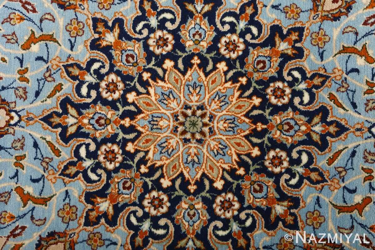 fine ivory vintage isfahan persian rug 51089 center Nazmiyal