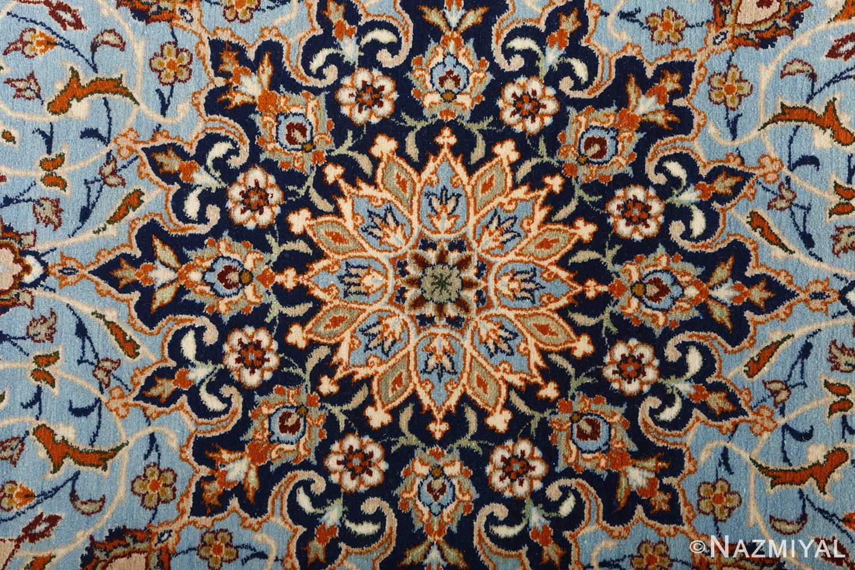 fine ivory vintage isfahan persian rug 51089 center Nazmiyal