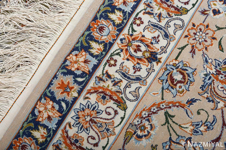 fine ivory vintage isfahan persian rug 51089 weave Nazmiyal