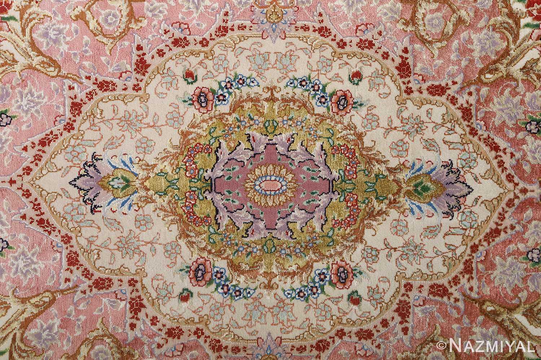 fine ivory vintage tabriz persian rug 51110 medallion Nazmiyal