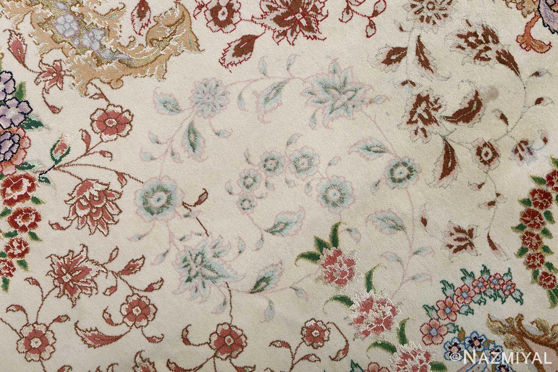 fine ivory vintage tabriz persian rug 51110 scrolls Nazmiyal
