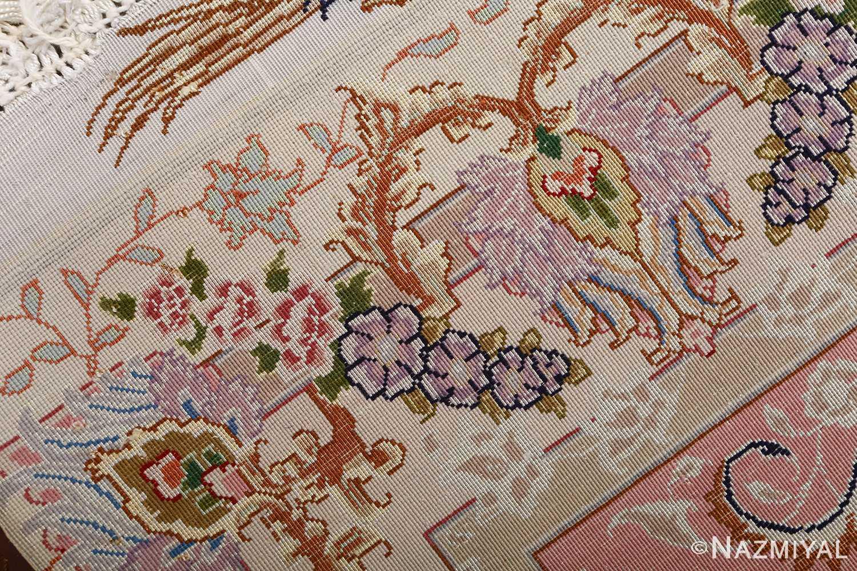 fine ivory vintage tabriz persian rug 51110 weave Nazmiyal