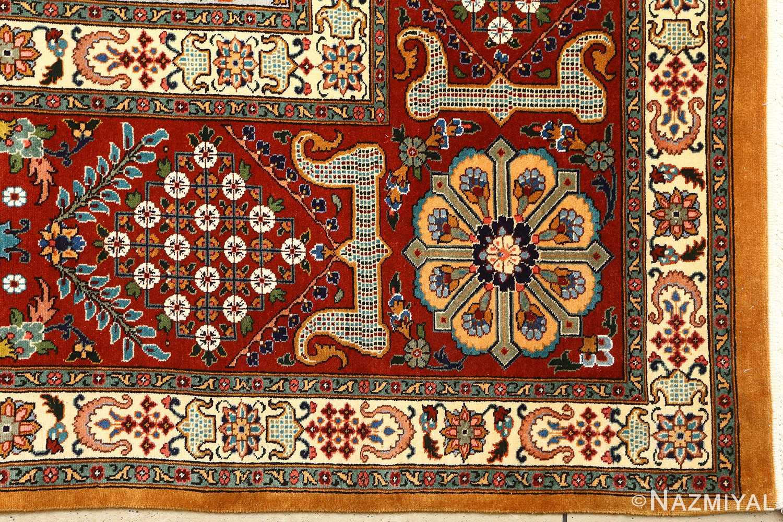 fine joshagan design vintage tabriz persian rug 51069 corner Nazmiyal