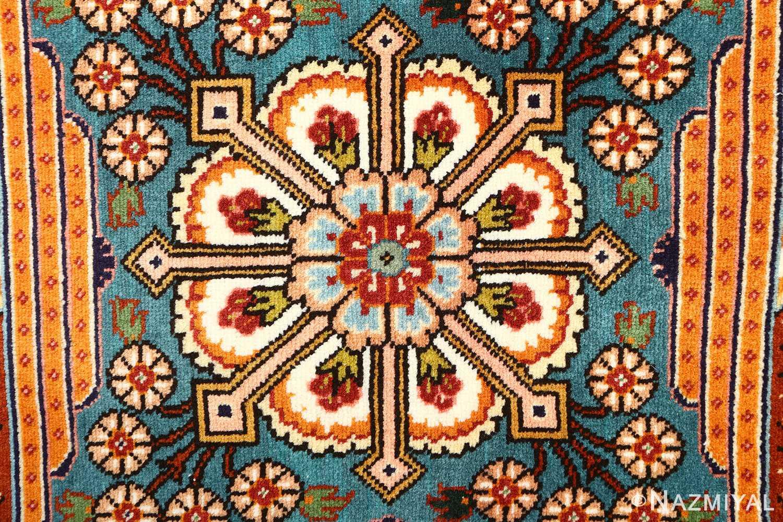 fine joshagan design vintage tabriz persian rug 51069 flower Nazmiyal