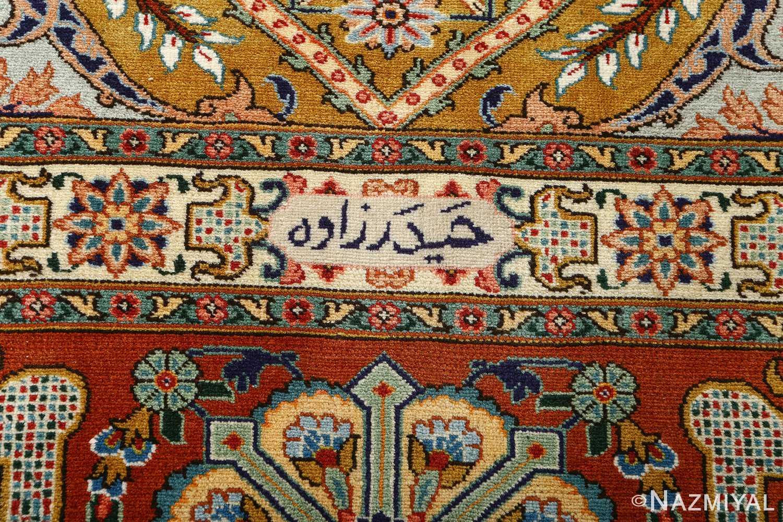 fine joshagan design vintage tabriz persian rug 51069 signature Nazmiyal