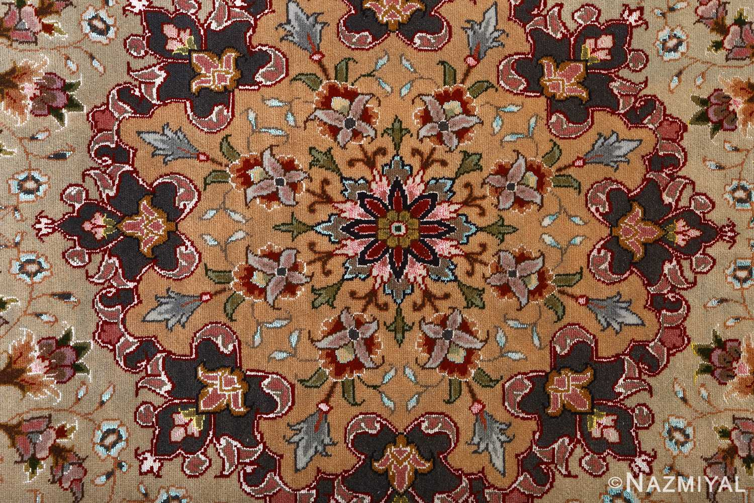 fine large vintage tabriz persian rug 51068 center Nazmiyal