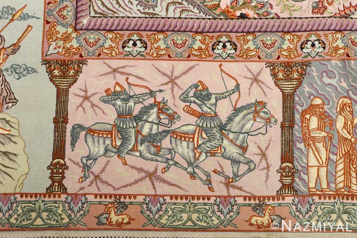 fine pictorial vintage tabriz persian rug 51070 arrow Nazmiyal