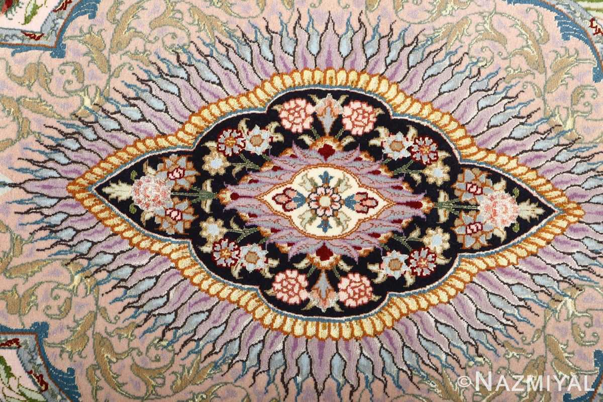 fine pictorial vintage tabriz persian rug 51070 center Nazmiyal