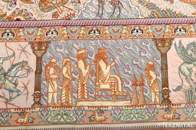 fine pictorial vintage tabriz persian rug 51070 cyrus Nazmiyal