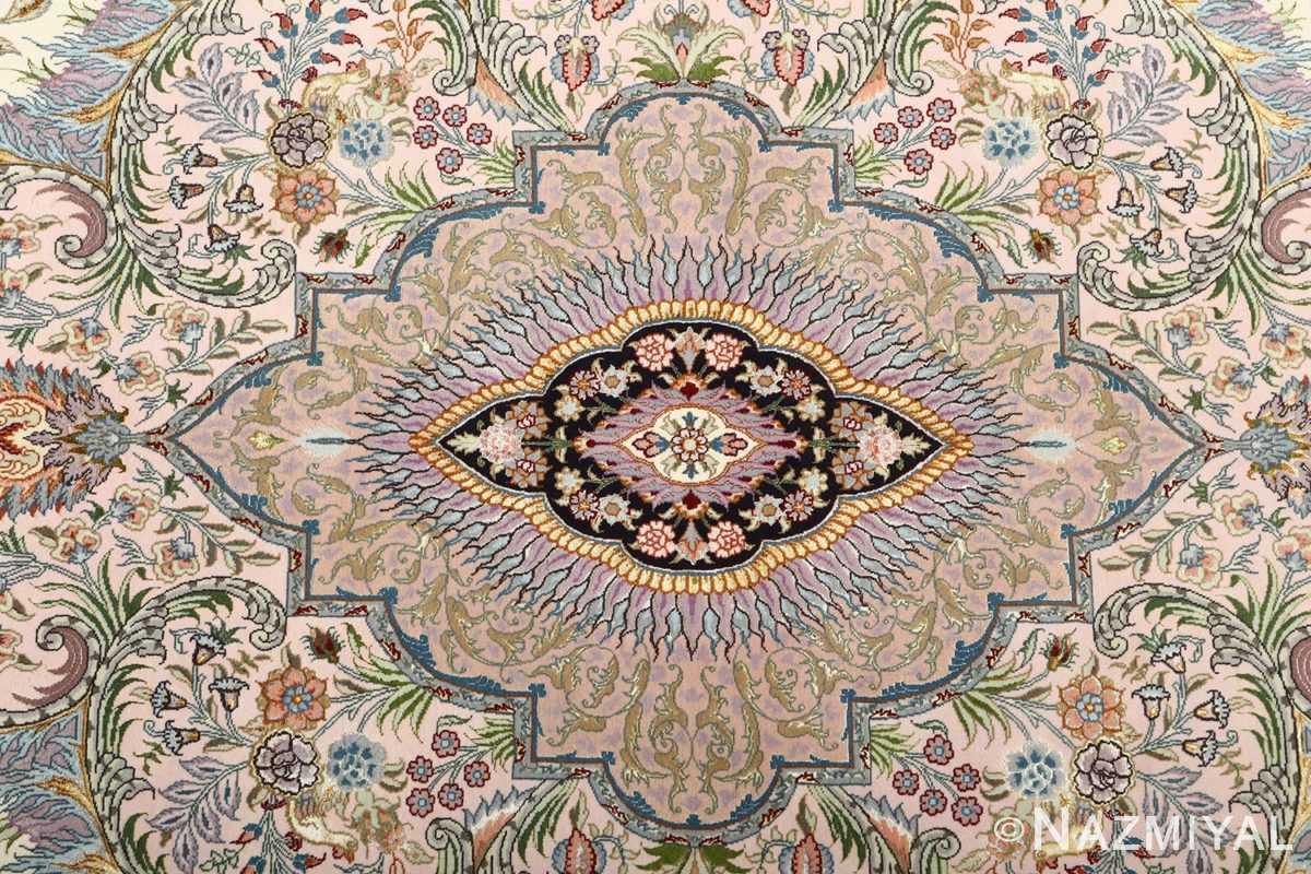 fine pictorial vintage tabriz persian rug 51070 floral Nazmiyal