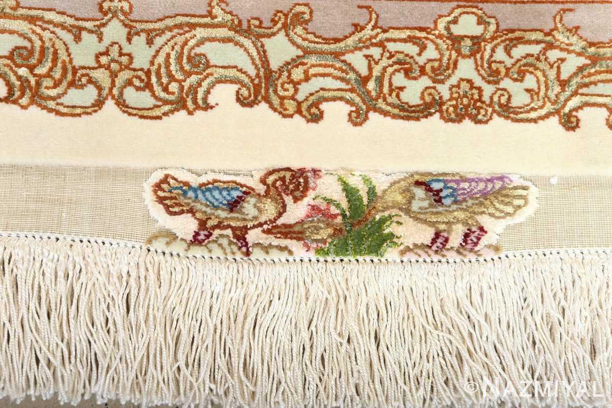 fine pictorial vintage tabriz persian rug 51070 fringe Nazmiyal