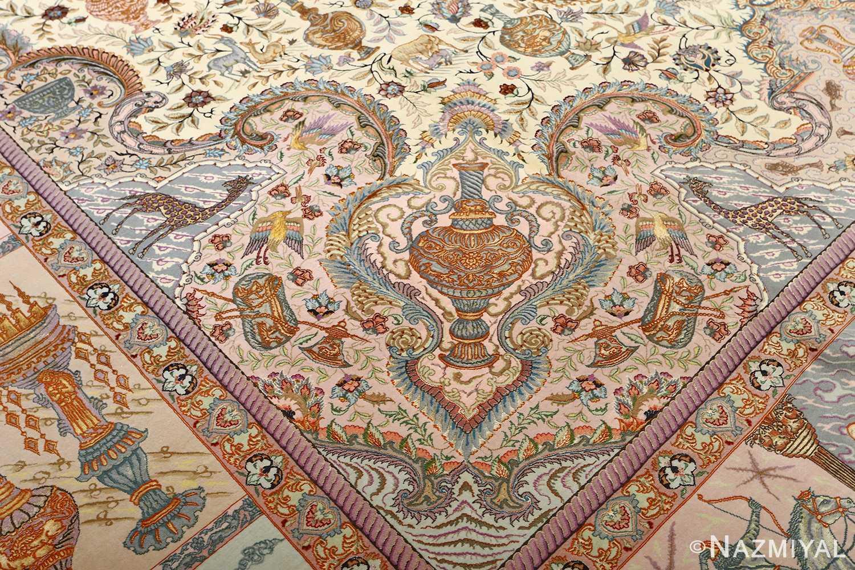 fine pictorial vintage tabriz persian rug 51070 jar Nazmiyal