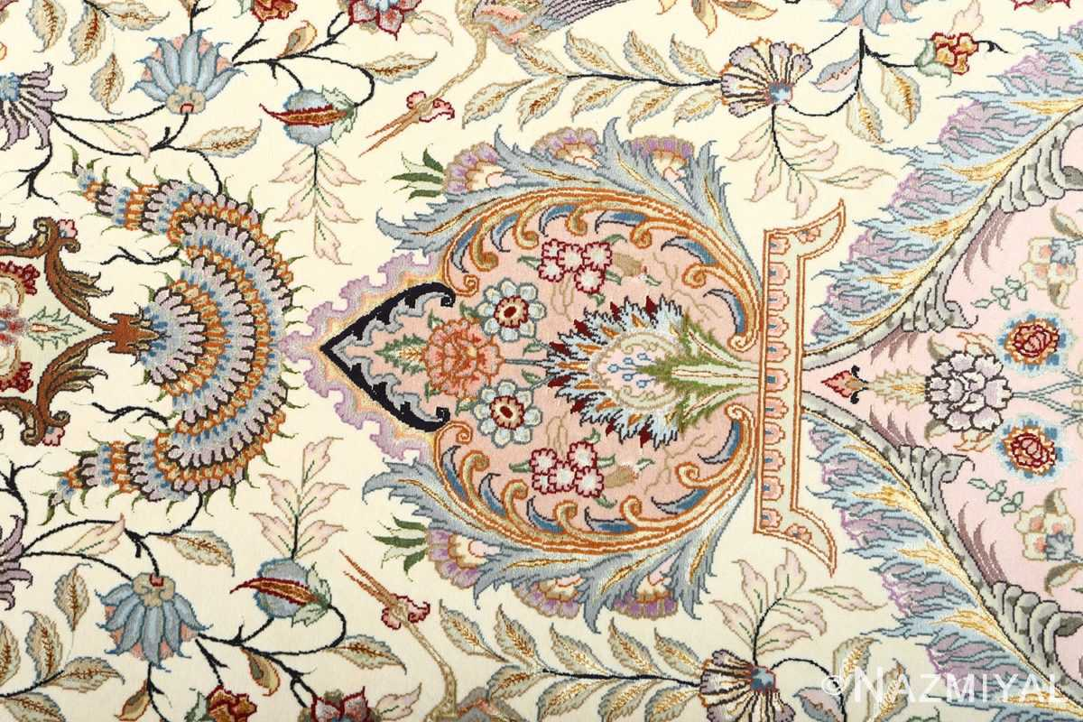 fine pictorial vintage tabriz persian rug 51070 peony Nazmiyal