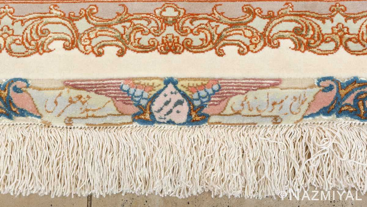 fine pictorial vintage tabriz persian rug 51070 signature Nazmiyal